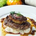 料理メニュー写真牛フィレ肉のフォアグラのせ