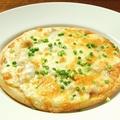 料理メニュー写真焼き鳥屋さんのネギマピザ