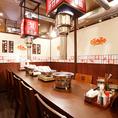 会社宴会や女子会はもちろん、二次会や打ち上げなど、仲間とワイワイお食事ができる最大10名様まで着席可能な完全個室です。