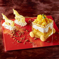 マンゴーの爽やかなパフェに、さらに美味しくなる呪文を唱えよっ・・・ビビデバビデブー!