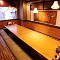 中規模の飲み会にも最適な個室や半個室をご用意!!(※個室の詳細はお店にお問い合わせください)