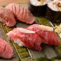 肉寿司の盛り合わせをぜひ!!