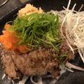 料理メニュー写真【まぐろのほっぺた】ホホ肉のタタキ