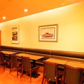 『楽しい会話を交わしながら食事を愉しむ』そんな穏やかな心温まる空間です。