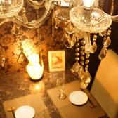 シャンデリア個室席は居心地抜群♪※写真は系列店の店内です。