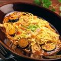 料理メニュー写真ナスとベーコンのトマトソーススパゲティ