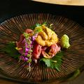 料理メニュー写真極上の逸品!雲丹×A4和牛「うにく」
