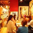 店内の奥は女子会やデートにもってこいのオシャレ空間★☆高円寺 居酒屋 宴会 貸切 飲み放題