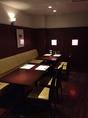 横並び ボックス兼ソファー席では2~4名席で準備 テーブル全3卓