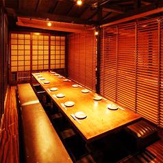 素敵な個室席は2~80名様までご案内可能となっております!誰と来ても何度来ても楽しめる寛ぎ空間♪素敵な夜を当店でお過ごしください!※系列店とお席を店舗を共有する場合がございます/写真は系列店の画像です