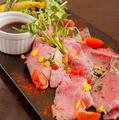 料理メニュー写真今一番のいちおし!!当店自家製宮崎牛のローストビーフ