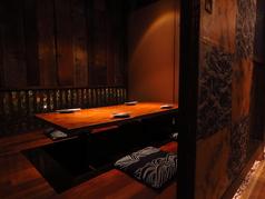 2階の離れでは全席掘りごたつの完全個室!接待や県外からのおもてなしなど大事なシーンにおススメとなっております。