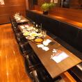 レイアウト変更可能なテーブル席を多数ご用意しております◎