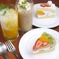 料理メニュー写真ケーキセット/ホットケーキセット