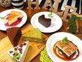 ★つなぐの手作りケーキ★レアチーズケーキ/抹茶とホワイトチョコのチーズケーキ/とろける生チョコケーキ…各500円