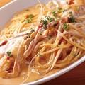 料理メニュー写真スカンピエビのアメリカンソーススパゲティ