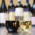 ワインはグラス、デキャンタもご用意!