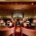 ◆着席最大80名、立食最大100名収容可!仕切りの無い正方形な空間は大人数のパーティーに最適です。