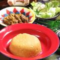 料理メニュー写真エグシスープとエバorパウンディッドヤム