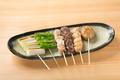 料理メニュー写真串焼盛り合わせ(塩・タレ)