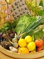 料理メニュー写真季節の野菜をふんだんに使用しております。