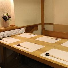 ≪4名様×1卓/6名様×1卓≫3名~6名様でご利用頂ける半個室席をご用意◇接待や会食にもお勧めのお席です。