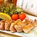 料理メニュー写真大山鶏もも肉のガーリックバター