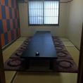 12名様向けの掘りごたつ式の個室です。4部屋ございますので、仕切りを取り外せば50名様の個室宴会も可能です。
