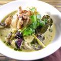 料理メニュー写真地鶏のココナッツグリーンカレー