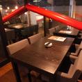 ≪ひろびろテーブル席☆≫全席窓際のテーブル席☆椅子はイタリア製の家具でソファーの様な座りやすさ・・・◎全席窓際なので夜景を見ながら夜景を楽しむことができます☆記念日や誕生日にはサプライズ演出もあるSHOKICHIで決まり♪