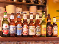 オーナー厳選のアジアンビール!