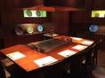 一番大きい個室は開放感ある涼しい個室。会社の飲み会や、ご家族に好まれます。6~7名席