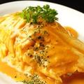 料理メニュー写真雲丹ソースの半熟オムレツ