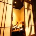 2~6名までの掘りごたつ個室。扉・壁のあるプライベート空間で、大切な御席も安心です。
