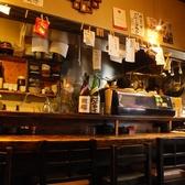 カウンターは6名様が座れる席がございます。仕事帰りにり美味しい酒の肴をつまみにちょっと一杯!ぜひお越しください♪