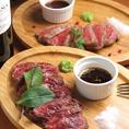 【4】肉バルといえば、やはり肉。牛タン、ハラミ、和牛の中から1種類、もしくは2種類をお選び頂くのがオススメ★(780円から)お肉の焼き加減のご希望が御座いましたら遠慮無くお伝えくださいね。