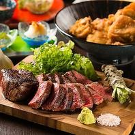 人気の黒毛和牛のステーキも用意しております