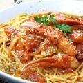 料理メニュー写真蟹のトマトクリームパスタ