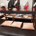 6名様の掘りごたつタイプのお席です。※テーブルの移動・連結で大人数のご宴会も可能です。