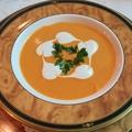 料理メニュー写真赤ピーマンの冷製スープ