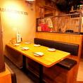 6名様までご利用できるテーブル席☆ 仲の良い仲間とのディナーや仕事仲間との晩御飯にも是非☆