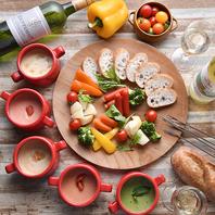 食べ比べも楽しい!大人気の7種のチーズフォンデュ
