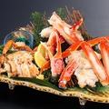 料理メニュー写真蟹三種食べ比べ