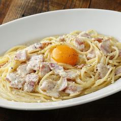スパゲッティ ロレンツァ(サワークリーム・宗像卵・ベーコン)