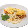 料理メニュー写真チーズを使った和風オムライス