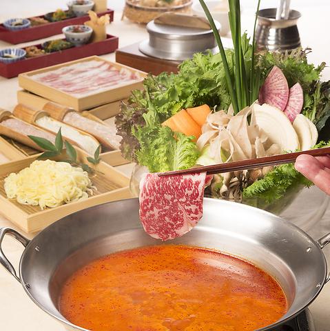 野菜で季節を感じる話題のお店「やさい家めい」写真はめいの定番!お野菜しゃぶしゃぶ