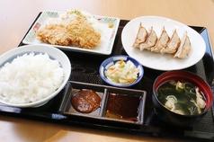 虎太郎餃子とヒレカツ定食