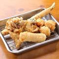 料理メニュー写真鶏肉巻き野菜からあげおまかせ5種盛り合わせ