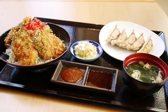 虎太郎餃子とタレカツ丼定食