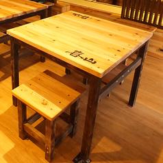テーブル席は2名様向けからございます。